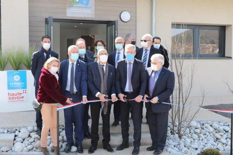 Inauguration de l'agrandissement du siège de la fédération des Chasseurs de la Haute-Savoie